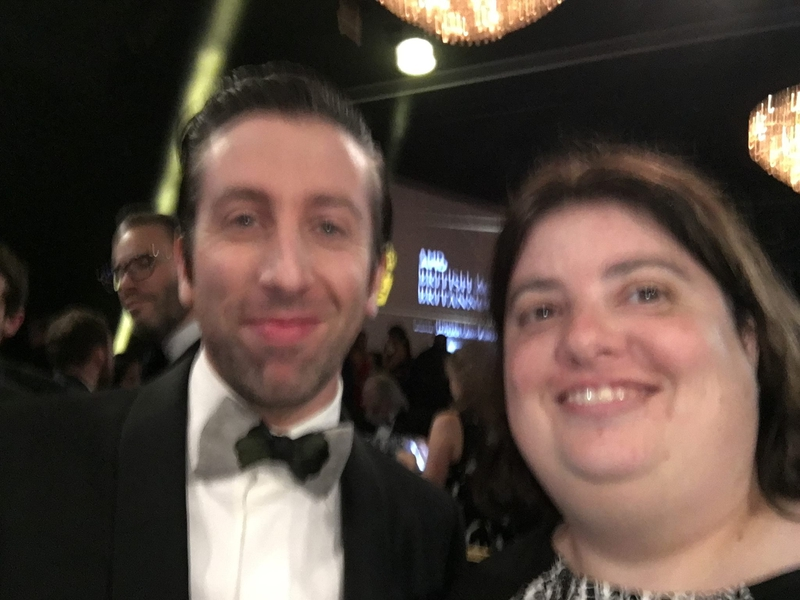 Simon Helberg Photo with Authentic Autograph Dealer Laura LaBarber
