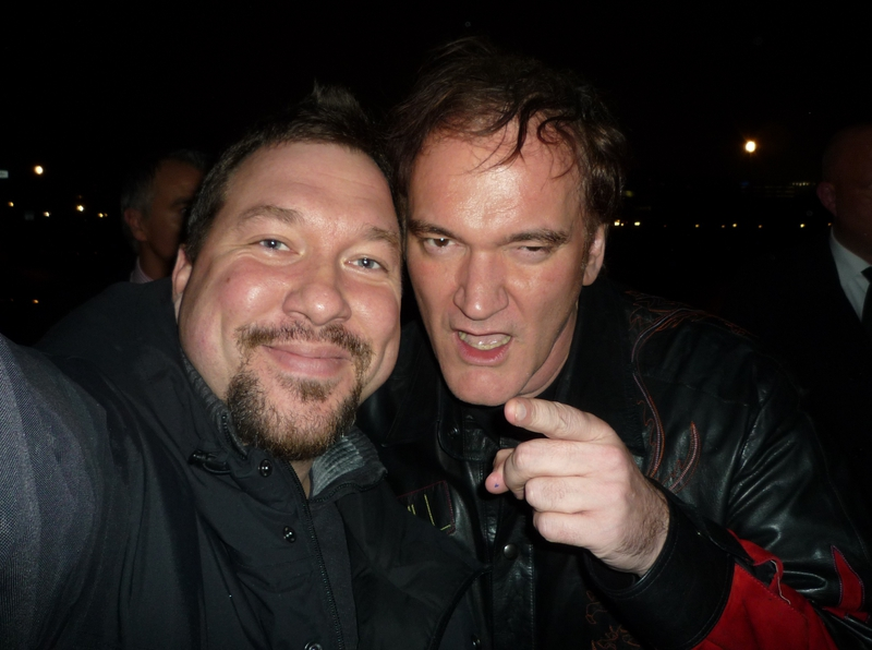 Quentin Tarantino Photo with Authentic Autograph Dealer RB-Autogramme Berlin