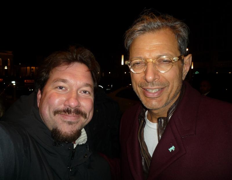Jeff Goldblum Photo with RACC Autograph Collector RB-Autogramme Berlin