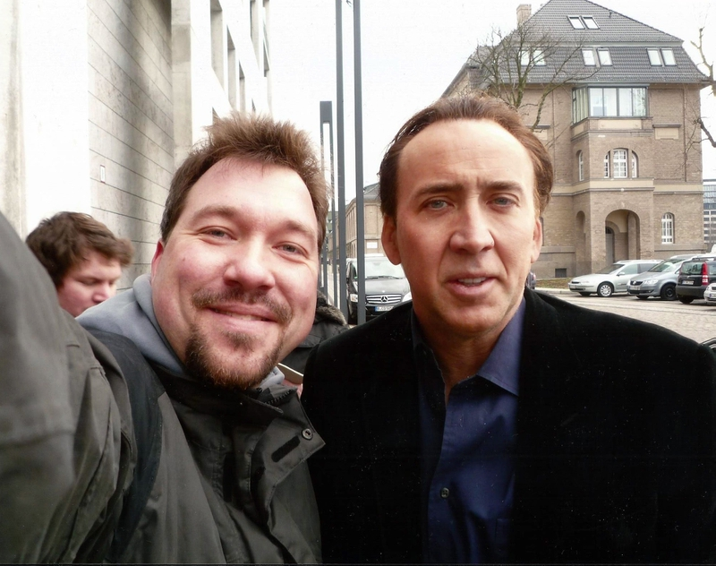 Nicolas Cage Photo with RACC Autograph Collector RB-Autogramme Berlin