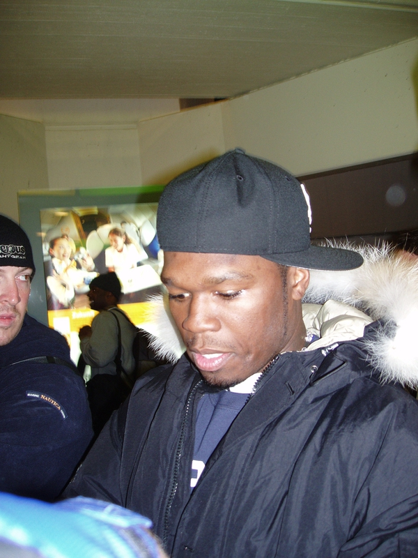 50 Cent Signing Autograph for RACC Autograph Collector RB-Autogramme Berlin