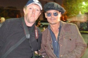 Johnny Depp with David Durocher