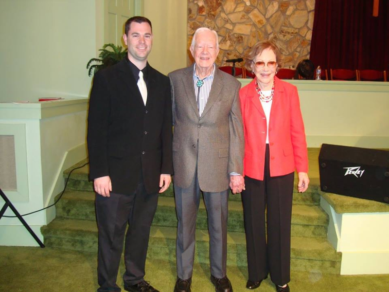 Jimmy Carter Rosalynn Carter Photo with RACC Autograph Collector Jeff Stenzel