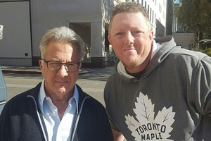 Dustin Hoffman with David Durocher