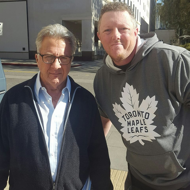 Dustin Hoffman Photo with RACC Autograph Collector David Durocher