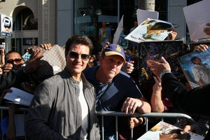 Tom Cruise with David Durocher
