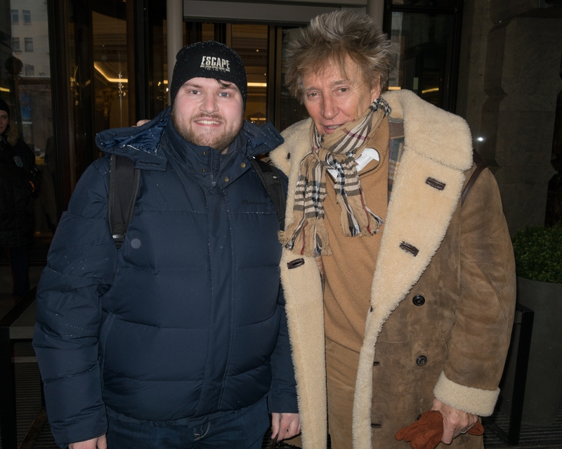 Rod Stewart Photo with Authentic Autograph Dealer Ilya Zeta