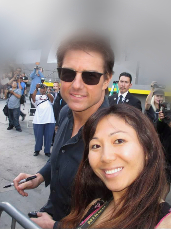 Tom Cruise Photo with RACC Autograph Collector Tina Orh