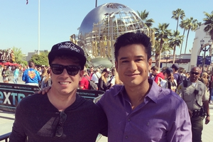 Mario Lopez with Shaun Philipps