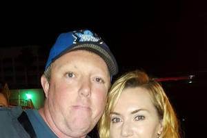 Kate Winslet with David Durocher