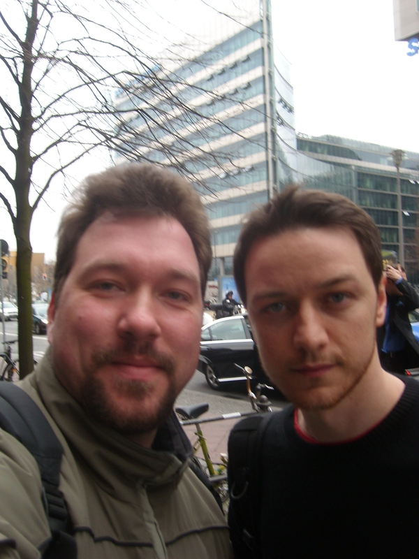 James McAvoy Photo with RACC Autograph Collector RB-Autogramme Berlin