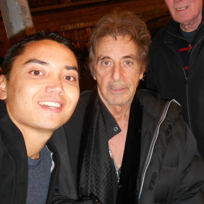 Al Pacino Photo with RACC Autograph Collector Blue Line Signatures