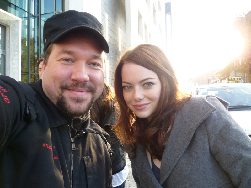 Emma Stone Photo with RACC Autograph Collector RB-Autogramme Berlin