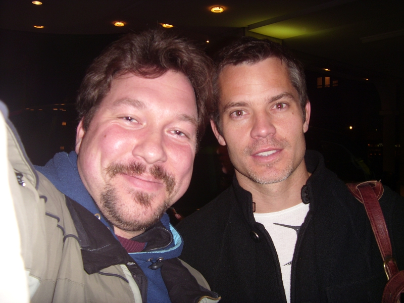 Timothy Olyphant Photo with RACC Autograph Collector RB-Autogramme Berlin