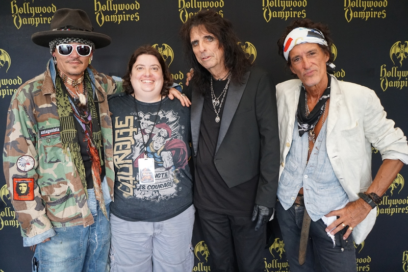 Alice Cooper Joe Perry Johnny Depp Photo with RACC Autograph Collector Laura LaBarber