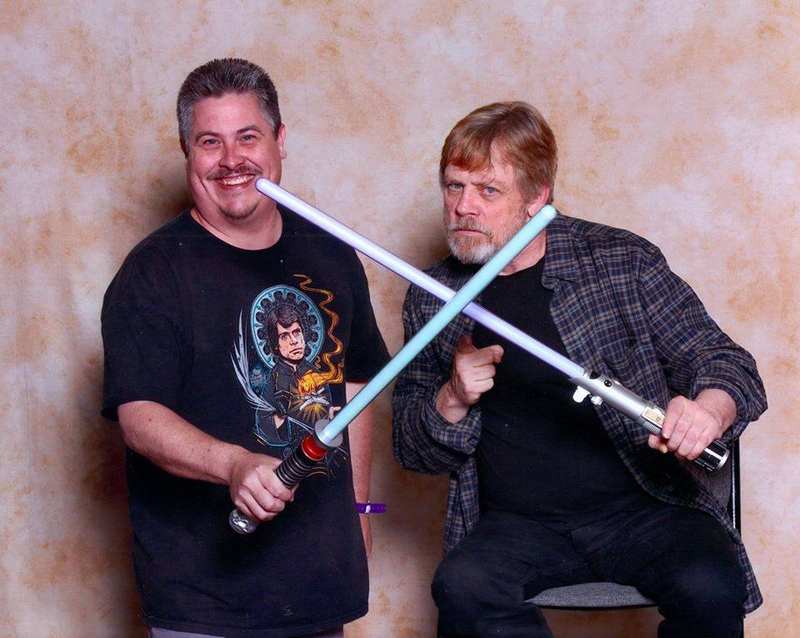 Mark Hamill Photo with RACC Autograph Collector Bryan Calloway