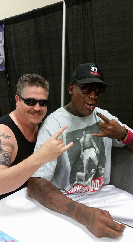 Dennis Rodman Photo with RACC Autograph Collector Bryan Calloway
