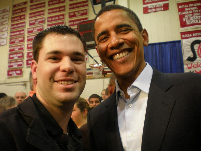 Barack Obama Photo with RACC Autograph Collector Jeff Stenzel