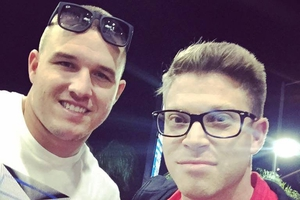 Mike Trout with Shaun Philipps