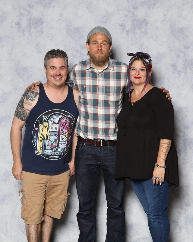Charlie Hunnam Photo with RACC Autograph Collector Bryan Calloway