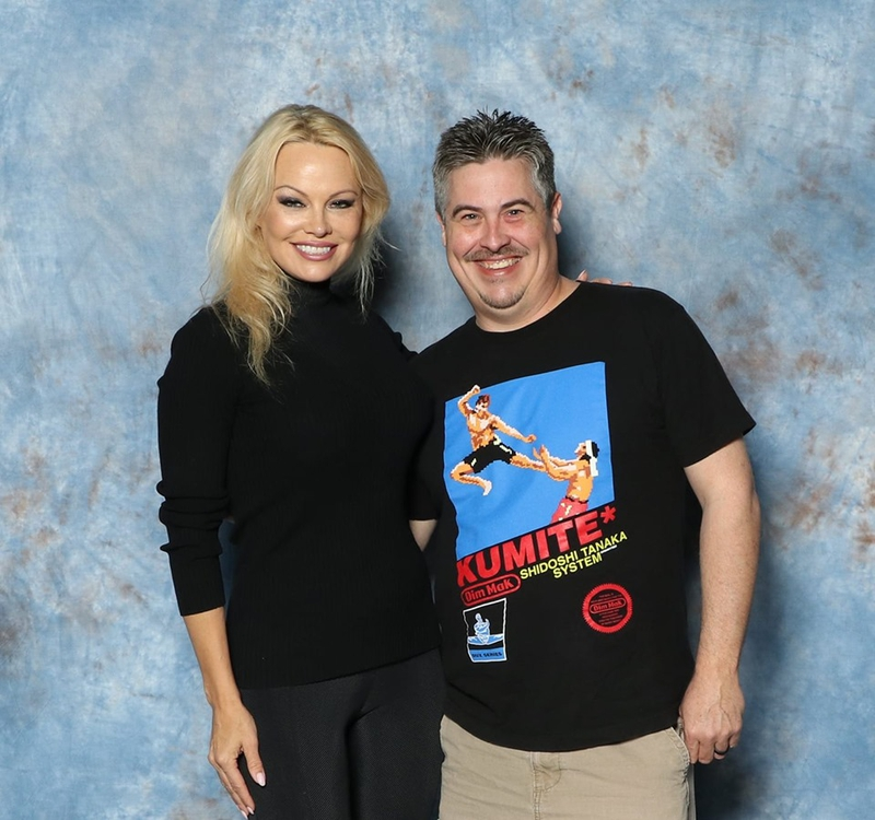 Pamela Anderson Photo with RACC Autograph Collector Bryan Calloway