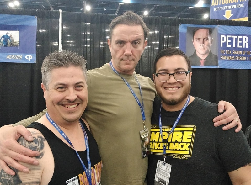 Peter Serafinowicz Photo with RACC Autograph Collector Bryan Calloway