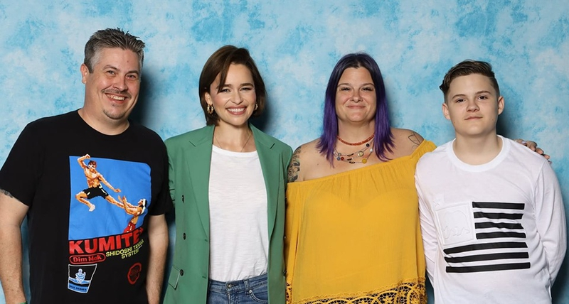 Emilia Clarke Photo with RACC Autograph Collector Bryan Calloway