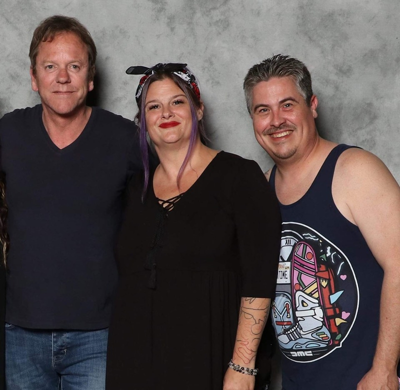 Kiefer Sutherland Photo with RACC Autograph Collector Bryan Calloway