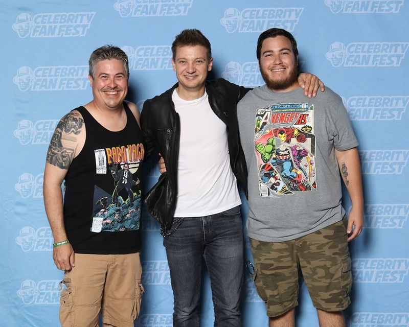 Jeremy Renner Photo with RACC Autograph Collector Bryan Calloway