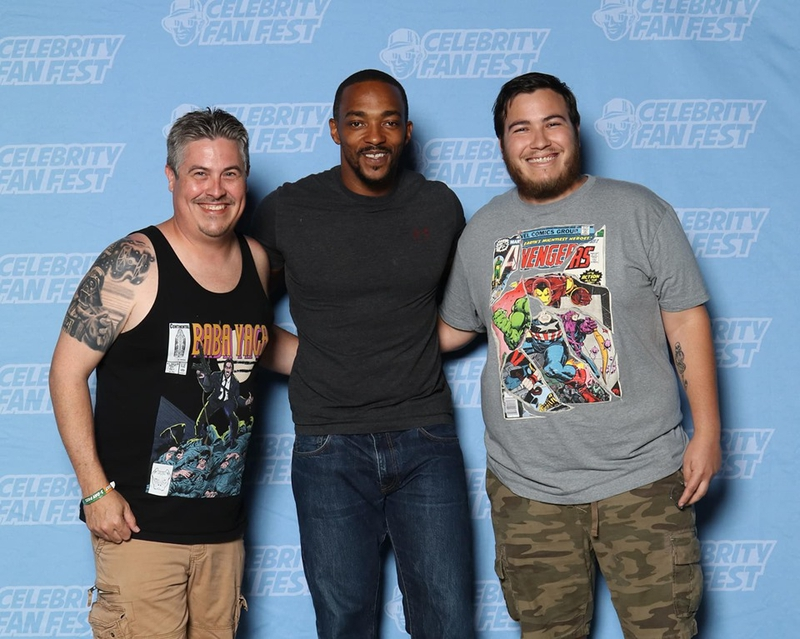 Anthony Mackie Photo with RACC Autograph Collector Bryan Calloway