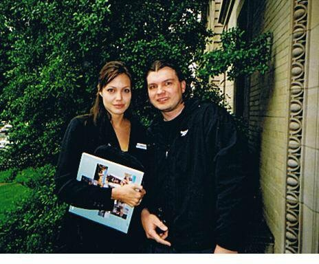 Angelina Jolie Photo with RACC Autograph Collector Bob Pivoroff