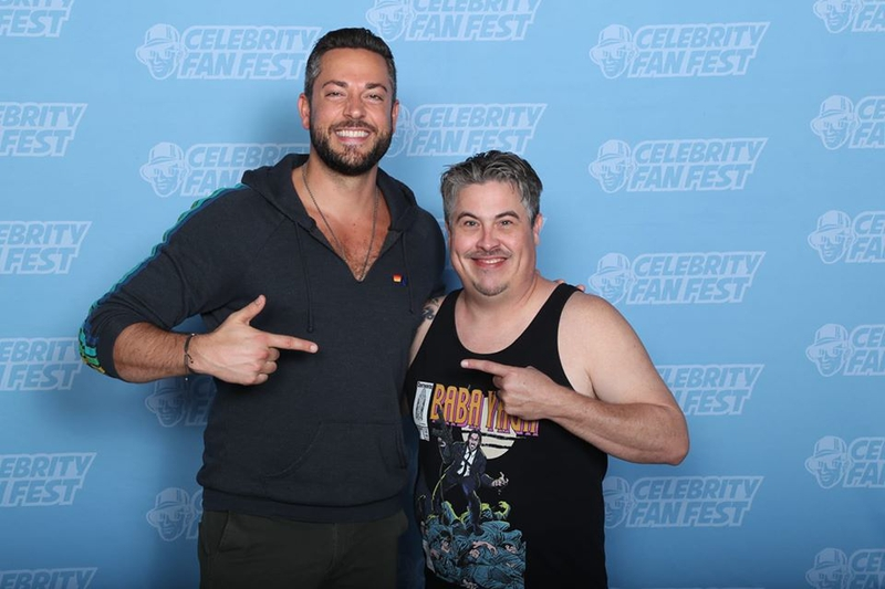 Zachary Levi Photo with RACC Autograph Collector Bryan Calloway