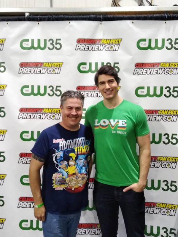 Brandon Routh Photo with RACC Autograph Collector Bryan Calloway