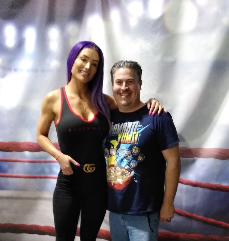 Eva Marie Photo with RACC Autograph Collector Bryan Calloway