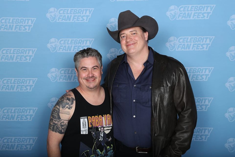 Brendan Fraser Photo with RACC Autograph Collector Bryan Calloway