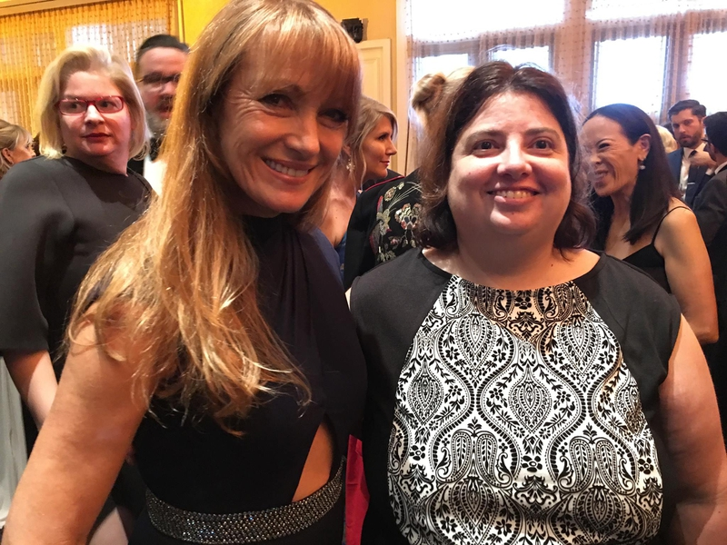 Jane Seymour Photo with Authentic Autograph Dealer Laura LaBarber