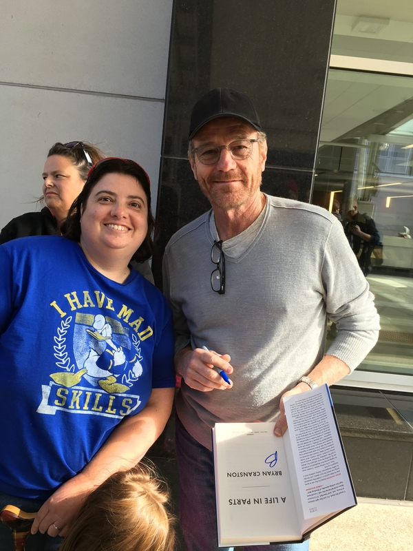 Bryan Cranston Photo with Authentic Autograph Dealer Laura LaBarber