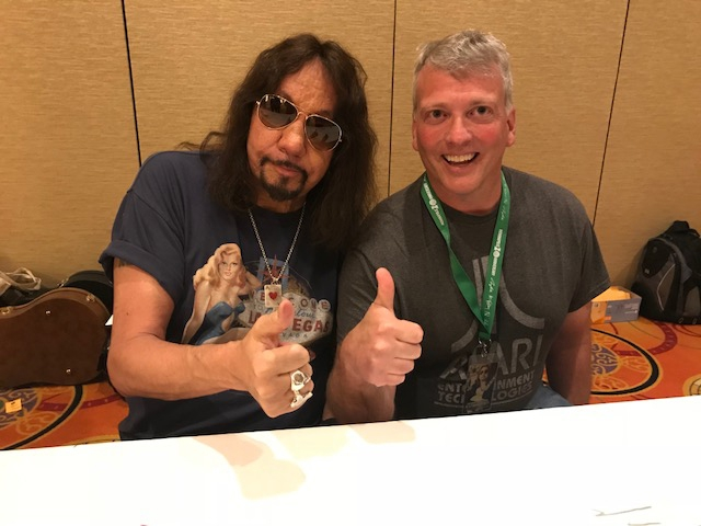 Ace Frehley Photo with Authentic Autograph Dealer Greg Drugan