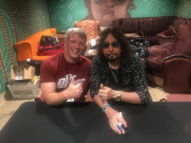 Ace Frehley Photo with RACC Autograph Collector Greg Drugan