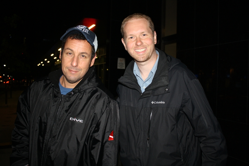Adam Sandler Photo with Authentic Autograph Dealer Breakaway Autographs
