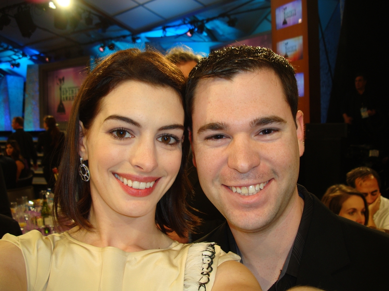 Anne Hathaway Photo with Authentic Autograph Dealer Jeff Stenzel