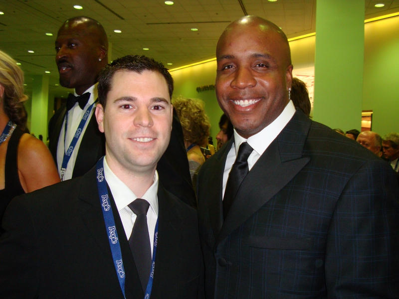 Barry Bonds Photo with Authentic Autograph Dealer Jeff Stenzel