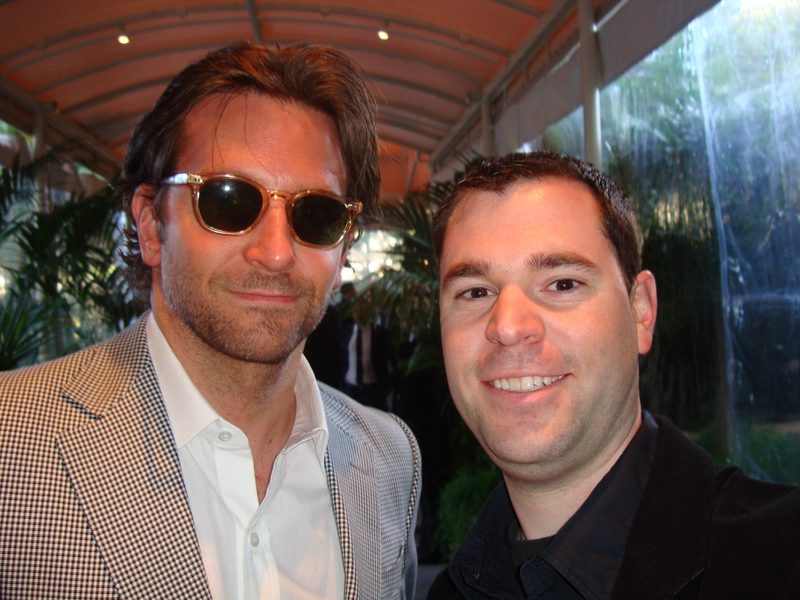 Bradley Cooper Photo with RACC Autograph Collector Jeff Stenzel