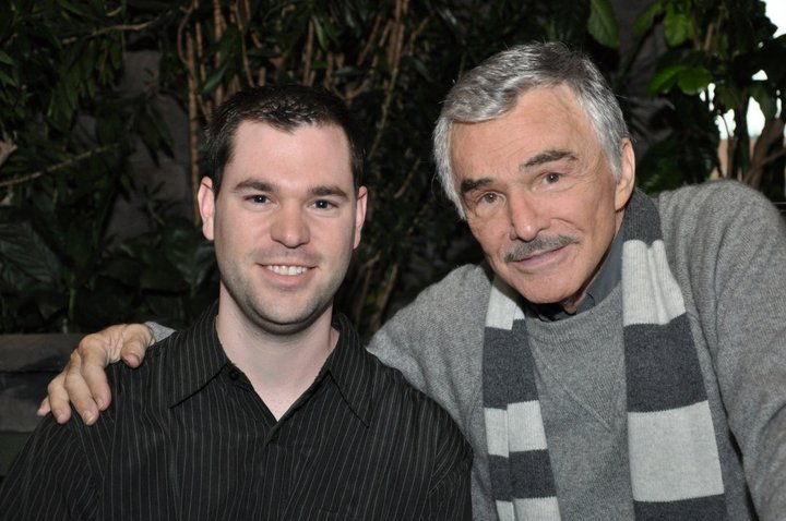 Burt Reynolds Photo with RACC Autograph Collector Jeff Stenzel