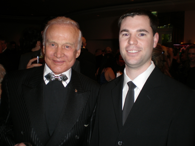 Buzz Aldrin Photo with RACC Autograph Collector Jeff Stenzel