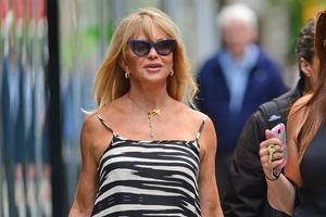 Goldie Hawn with Justin Steffman