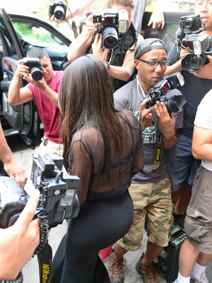 Kim Kardashian Paparazzi Shot by Justin Steffman