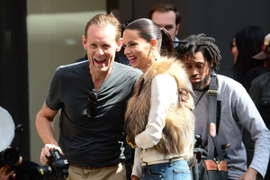Adriana Lima with Justin Steffman