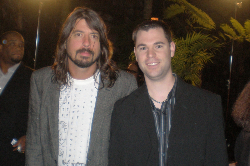 Dave Grohl Photo with RACC Autograph Collector Jeff Stenzel