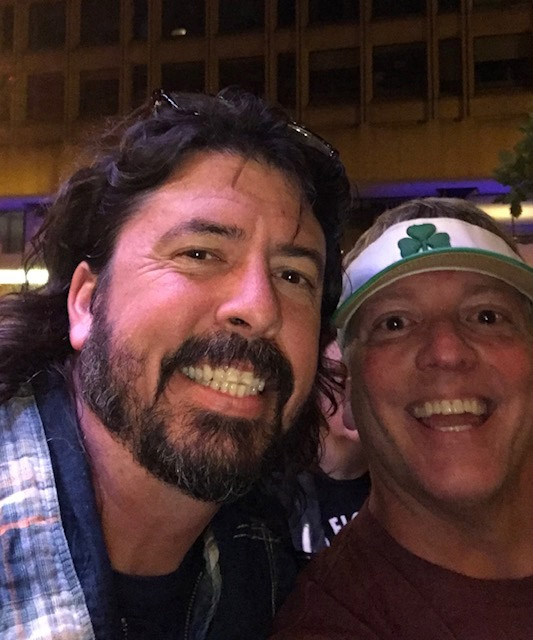 Dave Grohl Photo with RACC Autograph Collector Greg Drugan